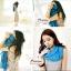ผ้าพันคอแฟชั่นเกาหลีสีพื้น Hot Basic : สีฟ้าน้ำทะเล CK0405 thumbnail 3