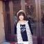 ผ้าพันคอแฟชั่นลายโบว์น่ารัก Kawaii Bow : สีขาว CK0242 thumbnail 2