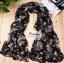 ผ้าพันคอแฟชั่นลายป่า Aavatar forest : สีดำ CK0203 thumbnail 1
