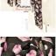 ผ้าพันคอลายขนนก Feather : สีชมพูอ่อนพื้นสีดำ CK0307 thumbnail 2
