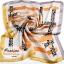 ผ้าพันคอ ผ้าคาดผมเนื้อไหมญี่ปุ่น : สีเหลืองส้ม MJ0024 thumbnail 2