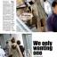 ผ้าพันคอแฟชั่นเกาหลีสีพื้น Hot Basic : สีครีม CK0150 thumbnail 5
