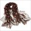 ผ้าพันคอแฟชั่น ลายลิง Paul Frank : สีน้ำตาล CK0394 thumbnail 1