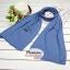 ผ้าพันคอแฟชั่นเกาหลีสีพื้น ZARA BLUE : สีน้ำเงิน CK0144 thumbnail 3
