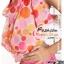 ผ้าคลุมชายหาด ลายจุด Polka Dot : สีส้มชมพูพื้นขาว AB0011 thumbnail 4