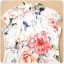 ชุดกี่เพ้าสั้นไซส์ใหญ่ แขนล้ำ ลายดอกไม้ (XL,2XL,3XL) thumbnail 4