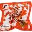 ผ้าพันคอ ผ้าคาดผมเนื้อไหมญี่ปุ่น : สีส้มลายผีเสื้อ MJ0023 thumbnail 2