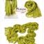 ผ้าพันคอแฟชั่นเกาหลีสีพื้น Hot Basic : สีเขียว CK0401 thumbnail 2