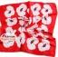 ผ้าพันคอ ผ้าคาดผมเนื้อไหมญี่ปุ่น : ลายดอกไม้พื้นสีแดง MJ0026 thumbnail 2