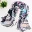 ผ้าพันคอแฟชั่นสวยหรู Luxury : สีดำเทา CK0042 thumbnail 1