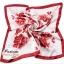 ผ้าพันคอ ผ้าคาดผมเนื้อไหมญี่ปุ่น : ลายดอกไม้สีแดง MJ0019 thumbnail 2
