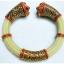 กำไลหางช้างประดับพลอยพม่า พลอยนพเก้า ตัวเรือนขึ้นเงิน 92.5 ชุบทองคำบริสุทธิ์ ถมทองรมดำ thumbnail 1