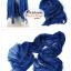 ผ้าพันคอแฟชั่นเกาหลีสีพื้น Hot Basic : สีน้ำเงินเข้ม CK0406 thumbnail 2
