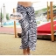ผ้าคลุมชายหาด ลาย ZEBRA : สีดำขาว AB0010 thumbnail 7