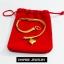 Inspire Jewelry ,สร้อยข้อมือลายเลตแบนขัดเงา ห้อยหัวใจทองตอกลาย ยาว 17cm. เส้นขนาด 1 บาท พร้อมถุงกำมะหยี่ thumbnail 3