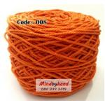 เชือกฟอก สีพื้น รหัสสี 008 สีส้มสด
