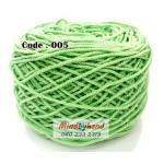 เชือกฟอก สีพื้น รหัสสี 005 สีเขียวอ่อน