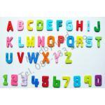 กระดุมตัวอักษรภาษาอังกฤษ A-Z เลข 0-9 (ตัวใหญ่) ถุงละ 100 ชิ้น (คละตัวครบทุกตัว)