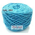 เชือกฟอก สีพื้น รหัสสี 003 สีฟ้าอ่อน