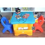 PGGomo-02 ชุด โต๊ะพร้อมเก้าอี้นักเรียนโกโม่ แบบที่2