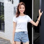 [พร้อมส่ง] เสื้อยืดสีขาว แขนสั้น (5XL)