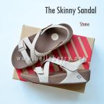 * NEW * FitFlop The Skinny Sandal : Stone : Size US 8 / EU 39