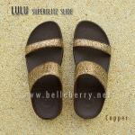 **พร้อมส่ง** FitFlop LULU Superglitz Slide : Copper : Size US 6 / EU 37
