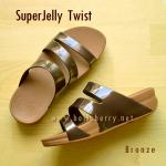 **พร้อมส่ง** FitFlop SUPERJELLY TWIST : Bronze : Size US 7 / EU 38