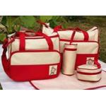 กระเป๋าสัมภาระคุณแม่ เซท 5 ชิ้น สีแดง