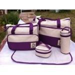 กระเป๋าสัมภาระคุณแม่ เซท 5 ชิ้น สีม่วง