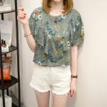 [PRE-ORDER] เสื้อคอตตอนพิมพ์ลายดอกไซส์ใหญ่ (XL,2XL,3XL,4XL,5XL)