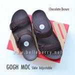 * NEW * FitFlop Men's : GOGH MOC Slide : Chocolate Brown : Size US 10 / EU 43