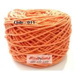 เชือกฟอก สีพื้น รหัสสี 011 สีส้ม (ส้มพาสเทล)