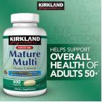 MATURE MULTI วิตามินรวมวัยทอง50ปีขึ้นไป 400 เม็ด เสริมสารอาหารให้สมวัย ลดความเสื่อมของสุขภาพ มีCALCIUM+ลูทีน(สายตา)+ไลโคปีน(มะเขือเทศ) หมด-มา3กค