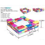US-6002 ตัวต่อขนาดใหญ่ Macrobrik Snow ball pool - Rain bow 1x2 (60 pcs.) คละสี พร้อมลูกบอล560ลูก