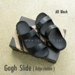 **พร้อมส่ง** FitFlop Gogh Slide ( Adjustable ) : All Black : Size US 12 / EU 45