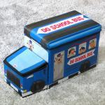 กล่องเก็บของ school bus ถอดได้ 2 ชิ้น พับเก็บได้ **พร้อมส่ง**