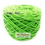 เชือกฟอก สีพื้น รหัสสี 023 สีเขียวฝรั่ง (แช่บ๊วย)