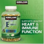 Vitamin E 400 iu 500เม็ด 500วัน บำรุงผิวสวยเปล่งปลั่งจากภายใน, ต้านอนุมูลอิสระ,ช่วยการไหลเวียนโลหิต (exp.03/2021) หมด-มา23มิย