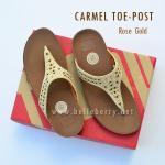 **พร้อมส่ง** FitFlop : CARMEL Toe-Post : Rose Gold : Size US 8 / EU 39