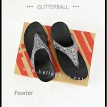 * NEW * FitFlop : GLITTERBALL : Pewter : Size US 9 / EU 41