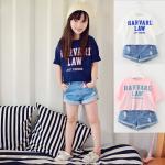 mu21 เสื้อ+กางเกงยีนส์ 3 ตัวต่อแพ็ค เด็กโต size 140-160