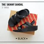 * NEW * FitFlop The Skinny Z-Cross : Black : Size US 6 / EU 37