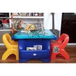 PGGomo-01 ชุด โต๊ะพร้อมเก้าอี้นักเรียนโกโม่ แบบที่ 1