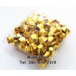 หมุดตอกก้นกระเป๋าทรงกรวย สีทอง 15 มิล (ถุงละ 100 ตัว)