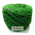 เชือกฟอก สีพื้น รหัสสี 026 สีเขียวเข้ม