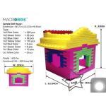 US-6007 ตัวต่อขนาดใหญ่ Macrobrik Simple doll house 1x2 (435 pcs.)บ้าน พร้อมลูกบอล285ลูก