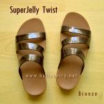 **พร้อมส่ง** FitFlop SUPERJELLY TWIST : Bronze : Size US 6 / EU 37