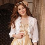 เสื้อคลุมชีฟองแขนยาว สีขาว ไซส์ (XL,2XL,3XL,4XL)