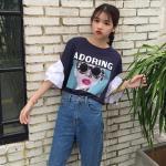 เสื้อยืดแฟชั่นเกาหลีราคาถูก